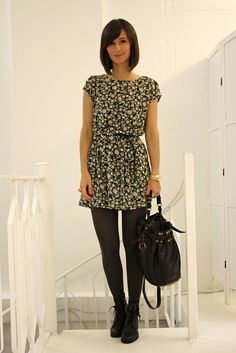 I love the cutesy dress/combat boot look.  Rock it all the time ;)