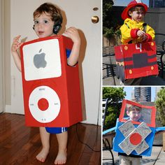 Kid Costumes Made From a Cardboard Box - Hope we are moved by halloween so we have plenty of empty boxes!