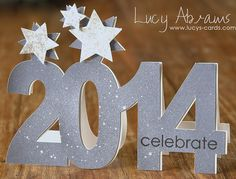 great way to use the Silhouette (and glitter paper) for a New Years Eve page in my December album