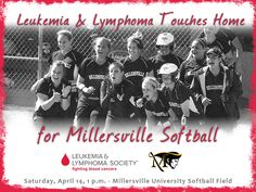 Join the Millersville softball team in its efforts to raise awareness for the Leukemia & Lymphoma Society on 4/14 at 1 p.m.