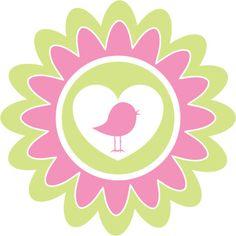 Pastel Bird Heart Flower