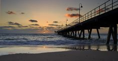 A sunset over Glenelg Bay South Australia , time out on assignment for this hand held snap. Advance Australia Fair, City Of Adelaide, Adelaide South Australia, Time Out, Travel Aesthetic, Life Purpose, New Zealand, Sunset Photography, Photo And Video