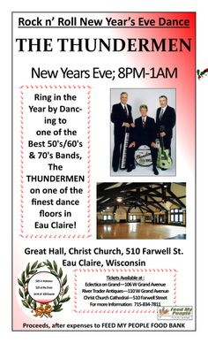 The Thundermen  Rock n' Roll New Year's Eve Dance 8pm - 1am