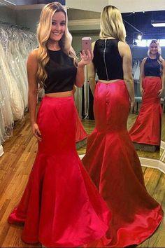 2017 prom dresses,two-pieces prom dresses,mermaid prom dresses,charming prom dresses,high quality prom dresses