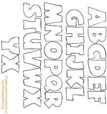 Cut Out Bubble Letters Alphabet