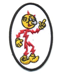 """3.75/"""" REDDY KILOWATT Embroidered Oval Iron-On Patch"""