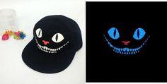 Novelty Devil Cheshire Cat Luminous Glow in the Dark Hip Hop Snapback Cap