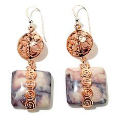Jay King Porcelain Jasper Copper Drop Earrings