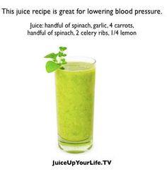 Lower blood pressure juice