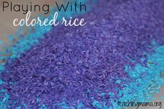 Playing with colored rice is one of the easiestplay ideas. We've been playing with colored rice as a sensory base for a long time. But I realize some of you may not know how wonderful colored rice is to play with. It's easy to make and leads to lots of play time in sensory bins. …
