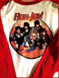 BON JOVI Tour Jersey T-Shirt! Vintage Rock n' Roll Pop 80s mtv Retro repro Glam Rock New Jersey Hair Heavy Metal Ratt, $30.00