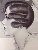 1920s waved hair