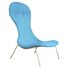 """Rare """"Tongue"""" Chair by Theo Ruth for Wagemans and Van Tuinen ca1960's"""