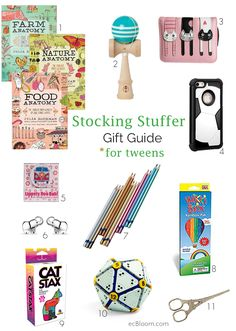 Stocking Stuffer Gift Guide For Tweens | ecBloom