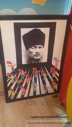 Atatürk project work - New Deko Sites Christmas Door Decorations, School Decorations, Preschool Art, Preschool Activities, International Children's Day, Reading Themes, Act For Kids, Diy And Crafts, Crafts For Kids