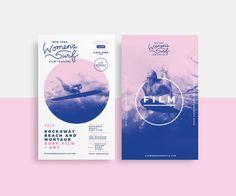"""다음 @Behance 프로젝트 확인: """"New York Women's Surf Film Festival Branding"""" https://www.behance.net/gallery/56415279/New-York-Womens-Surf-Film-Festival-Branding"""