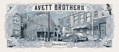 Avett-Brothers-Brooklyn-Dig-My-Chili-Poster-Barclays-blue-variant