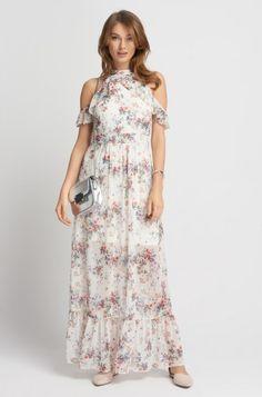 Sukienka maxi z odkrytymi ramionami | ORSAY