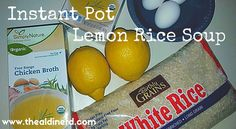 Here is another AMAZING Instant Pot Recipe! This Lemon Rice Soup is fast, easy, delicious, and only uses 4 ingredients! Just set it and FORGET IT! Recipe For Lemon Rice, Lemon Rice Soup, Wild Rice Soup, Pot Recipe, Recipe Ideas, Instant Pot Pressure Cooker, Pressure Cooker Recipes, Pressure Cooking, Slow Cooker