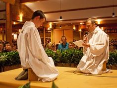 A young brother of Taizé makes his vows.