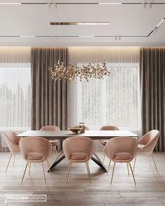 Enhance Your Senses With Luxury Home Decor Home Room Design, Dining Room Design, House Design, Dining Area, Elegant Dining Room, Luxury Dining Room, Room Interior, Interior Design Living Room, Luxury Interior Design