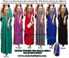 Muslim Maxi Dress ** USA Seller **  Muslim Abaya Kaftan, Burka, Islam  Rosy