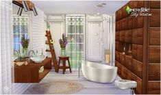 Silky Intentions bathroom at SIMcredible! Designs 4 via Sims 4 Updates
