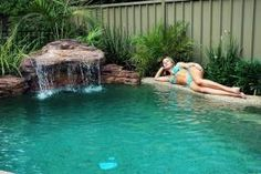 Granny pods kits Granny pods cost Universal Rocks lightweight artificial rock swimming pool waterfall complete kit, with matching edge rocks. Order your Maldives Swimming Pool Waterfall online today! Swimming Pool Waterfall, Rock Waterfall, Swimming Pool Designs, Swimming Pools, Oasis, Maldives, Backyard Pool Landscaping, Landscaping Ideas, Backyard Ideas