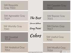 Die besten Sherwin Williams Grey Paint-Farben - Home: Living color 2019