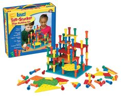 Tall Stacker Pegs Building Set