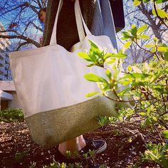 Spring has sprung! | Granita Burlap Marché Tote | #CentralPark #MadeInNYC #ChristenMaxwell
