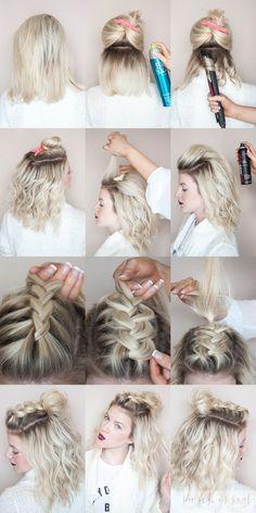 Braided half knot // half top knot // braid tutorial // blonde braid // @sunkissedandmadeup on IG