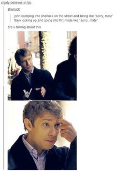 Hhahaha canon is real Sherlock Holmes Bbc, Sherlock Fandom, Sherlock John, Mrs Hudson, 221b Baker Street, Dr Strange, John Watson, Johnlock, Martin Freeman
