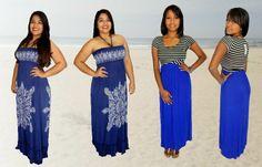 Vestidos largos especiales para ese viaje a la playa