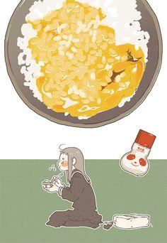 Egg over rice ~ Web-tana