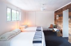 The Graham & Co. is a boutique hotel in Catskills region of New York Motel Room, Beste Hotels, Relax, Simple Bed, House Inside, Tiny House, Hotel Interiors, Cozy Place, Dream Bedroom