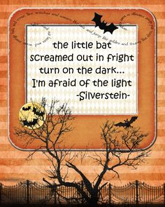 The Little Bat Screamed Out in Fright | Pink Polka Dot Creations