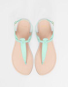 Pull&Bear - woman - women's footwear - coloured sandals - aquamarine - 11940011-V2015