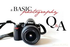 Basic Photography Q!