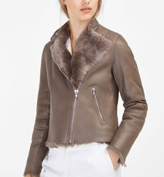 JACKET WITH FUR AND LEATHER
