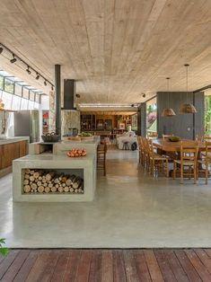 Kitchen Interior, Home Interior Design, Interior Architecture, Kitchen Decor, Kitchen Dining, Dream Home Design, House Design, House Outside Design, Home Kitchens