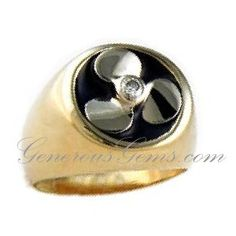 14k Yellow or White Gold Prop Ring