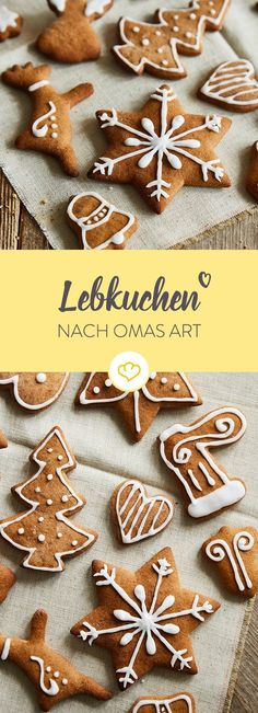 Brown gingerbread according to grandma's original recipe Whether Aachener Printen or Nuremberg Lebkuchen – the crispy cookies can look back on a long tradition. Austrian Recipes, Turkish Recipes, Christmas Snacks, Christmas Baking, Diy Christmas, Christmas Recipes, Christmas Decorations, Sweet Recipes, Cake Recipes