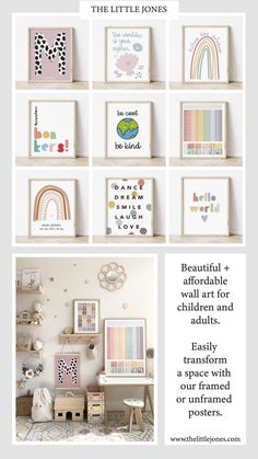 Get 15% off with code PIN15 ⭐️ Huge range of affordable + high quality wall art prints and frames. Posters and printables for adult spaces, children's bedrooms, nurseries and playrooms. Personalised initials. Typography and inspirational quotes to suit any decor or interior style. Wooden Wall Hooks, Wooden Decor, Diy Wall Decor, Nursery Decor, Bedroom Decor, Typography Prints, Typography Poster, Kids Prints, Wall Art Prints