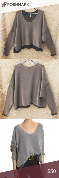 Free People dolman pullover Free People dolman pullover sweater. Size small in graphite Free People Sweaters Crew & Scoop Necks