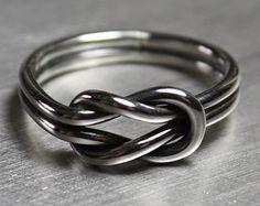 Men's Ring Oxidized Ring Men's Wedding Band by JenniferWoodJewelry