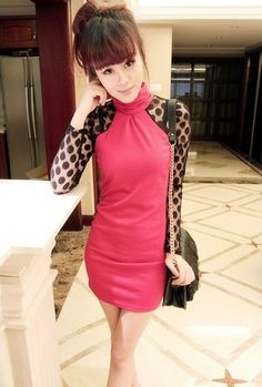 Pretty & Fashionable Stand Collar Yarn Spliced Dot Full Coverage Dress----Red    prev next        Item number:D12101746-1      Weight:450gram      Rank:comment rank 5      Wholesale price:US$ 8.22
