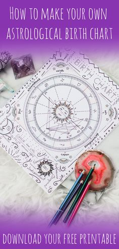 Click to learn how to create your own astrological birth chart-- you might be surprised by how telling it is! Plus, get a free DIY birth chart printable.