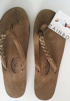 Rainbow Sandal Flirty Braidy 301ALTSB Leather Expresso Size 8.5 - 9.5 FreeShipUS #Rainbow #FlipFlops