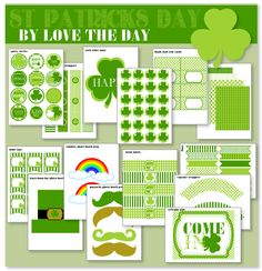 FREE PRINTABLE St. Patricks Day Party | Love The Day